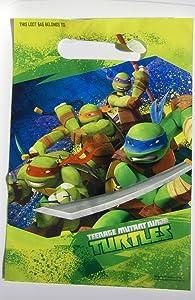 American Greetings Teenage Mutant Ninja Turtles Party Supplies Plastic Treat Bags, 8-Count