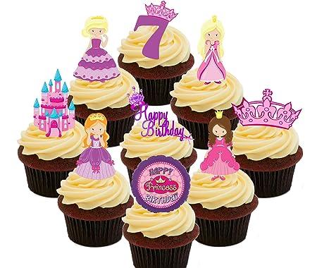 Decoración comestible para tarta de cumpleaños n°7 de ...