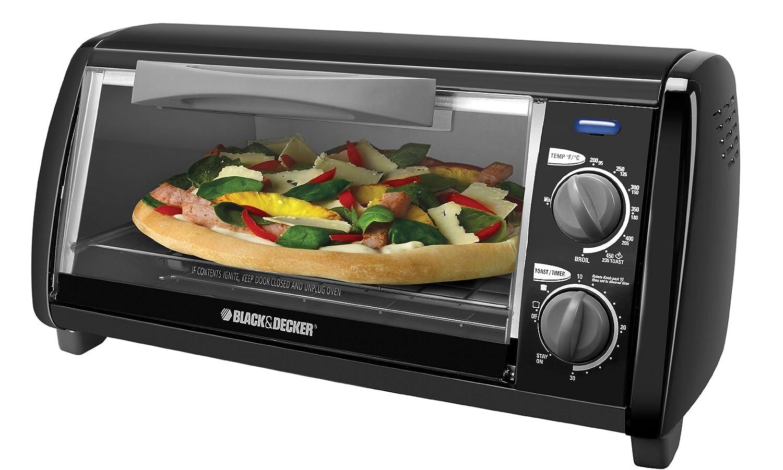 Amazon.com: Black \u0026 Decker TO1420B 4-Slice Toaster Oven, Black ...
