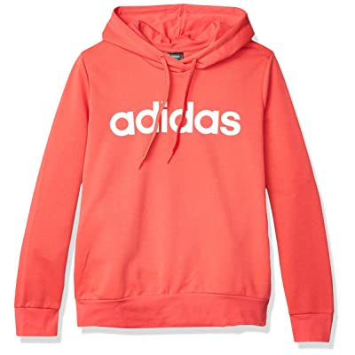 adidas Essentials Linear Over Head Hoodie Sweatshirt: Clothing