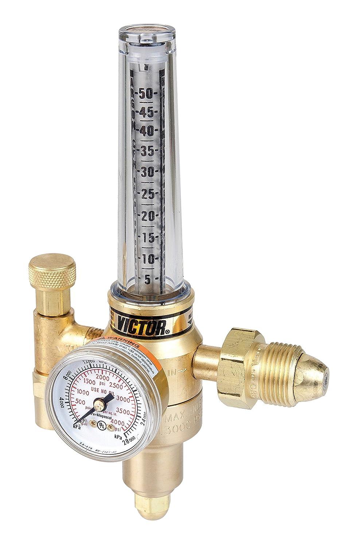 7.5-37.5 SCFH Flow Range Victor Technologies 0781-2728 HRF-2480 Medium Duty Flow Meter Cylinder Argon//Carbon Dioxide Mix Regulator CGA 320//580 Inlet Connection