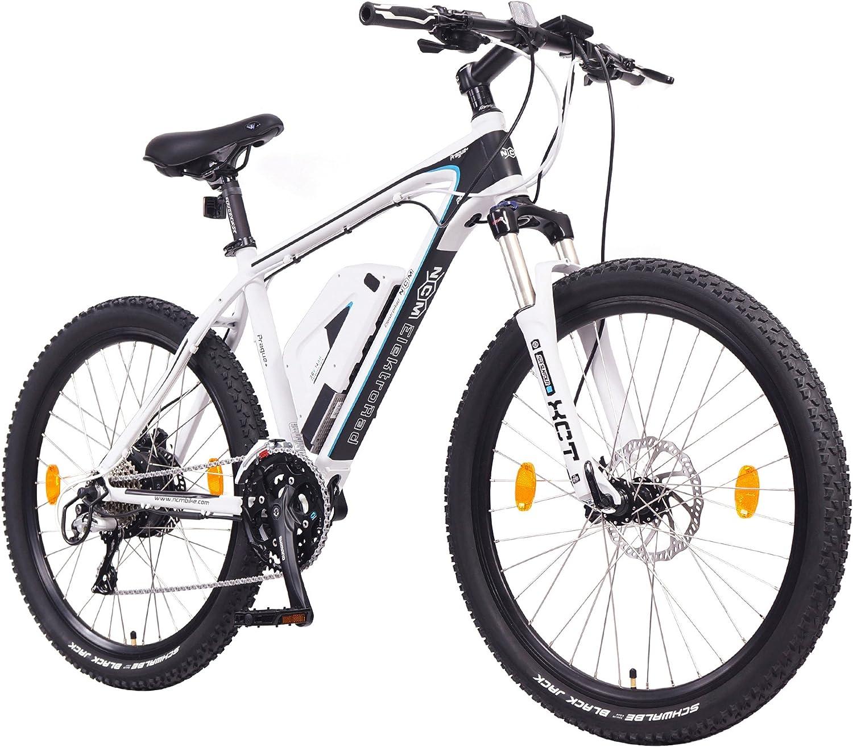 NCM Prague Plus Bicicleta eléctrica de montaña, 250W, Batería 36V 14Ah 504Wh (Blanco 26