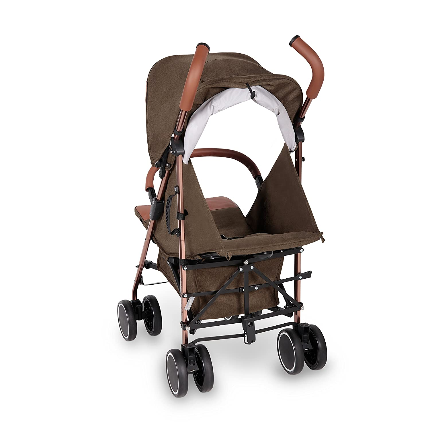 UPF 50+ Extendable Hood Compact Fold Technology for Easy Transport and Storage Lightweight Stroller Pushchair Footmuff and Rain Cover Discovery Max Khaki//Rose Gold Ickle Bubba Baby Strollers