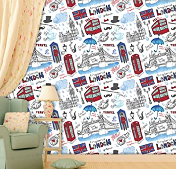 Buy Printelligent Wallpaper London City England Wallpaper Self Adhesive Wallpaper Size 45 Sqft Online At Low Prices In India Amazon In