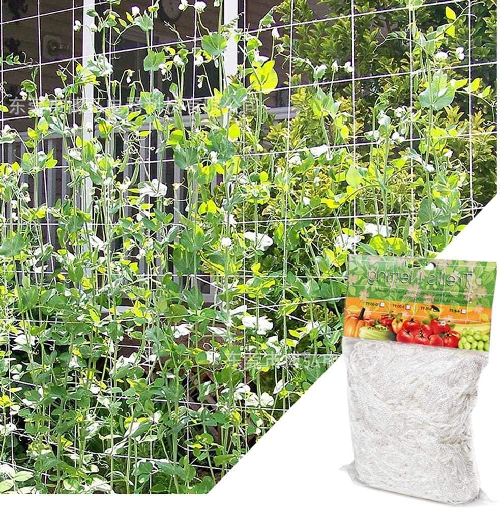Makluce Filet de treillis v/ég/étal Ensemble de 5x30ft Paquet de 2 paquets de treillis en polyester pour plantes lourdes Support de plantes de culture hydroponique grimpante avec ficelle de eco friendly