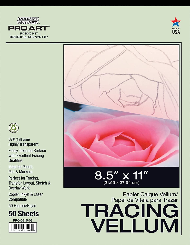 50 x A4 Vellum Translucent Tracing Paper 62gsm