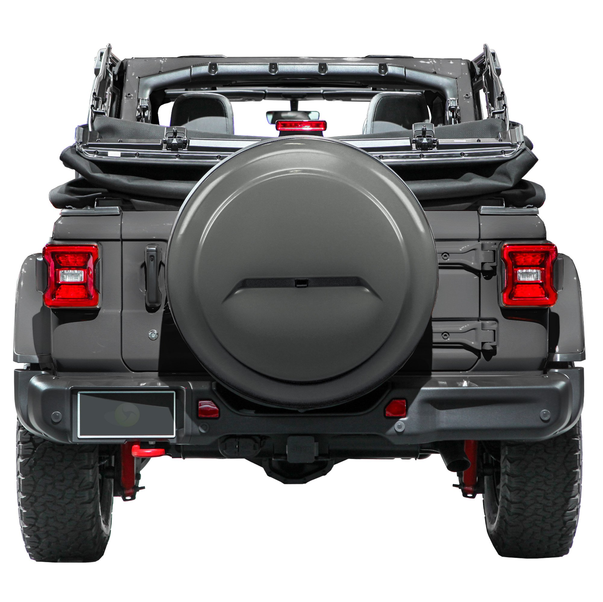 Boomerang 2018 Jeep Wrangler Rubicon JL & JLU - 33'' Color Matched Rigid Tire Cover (Plastic Face & Vinyl Band) - Granite Crystal Metallic by Boomerang (Image #1)