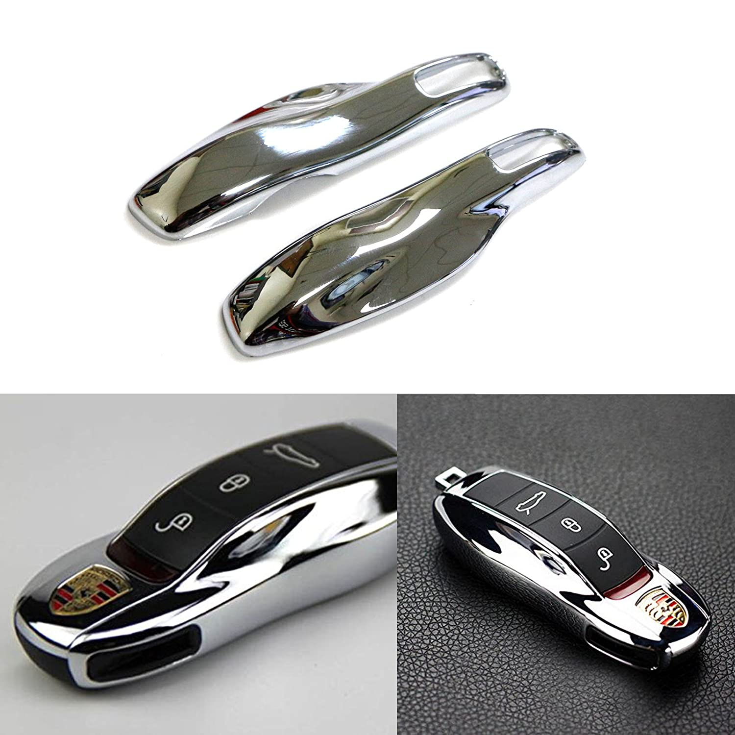 etc Xotic Tech 1x White Smart Remote Key Shell Holder Cover Protector Case Fob for Porsche Cayenne Panamera Macan 911