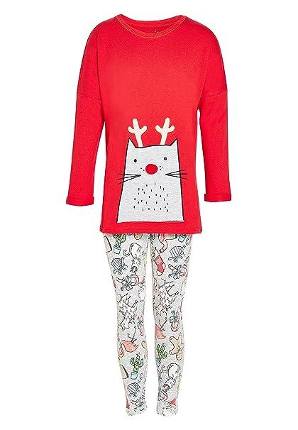 next Niñas Pijama De Leggings con Gatos (3-16 Años) Rojo/Gris 16 años: Amazon.es: Ropa y accesorios