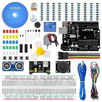 Amazon.com: lafvin la Kit de iniciación básica para arduino ...