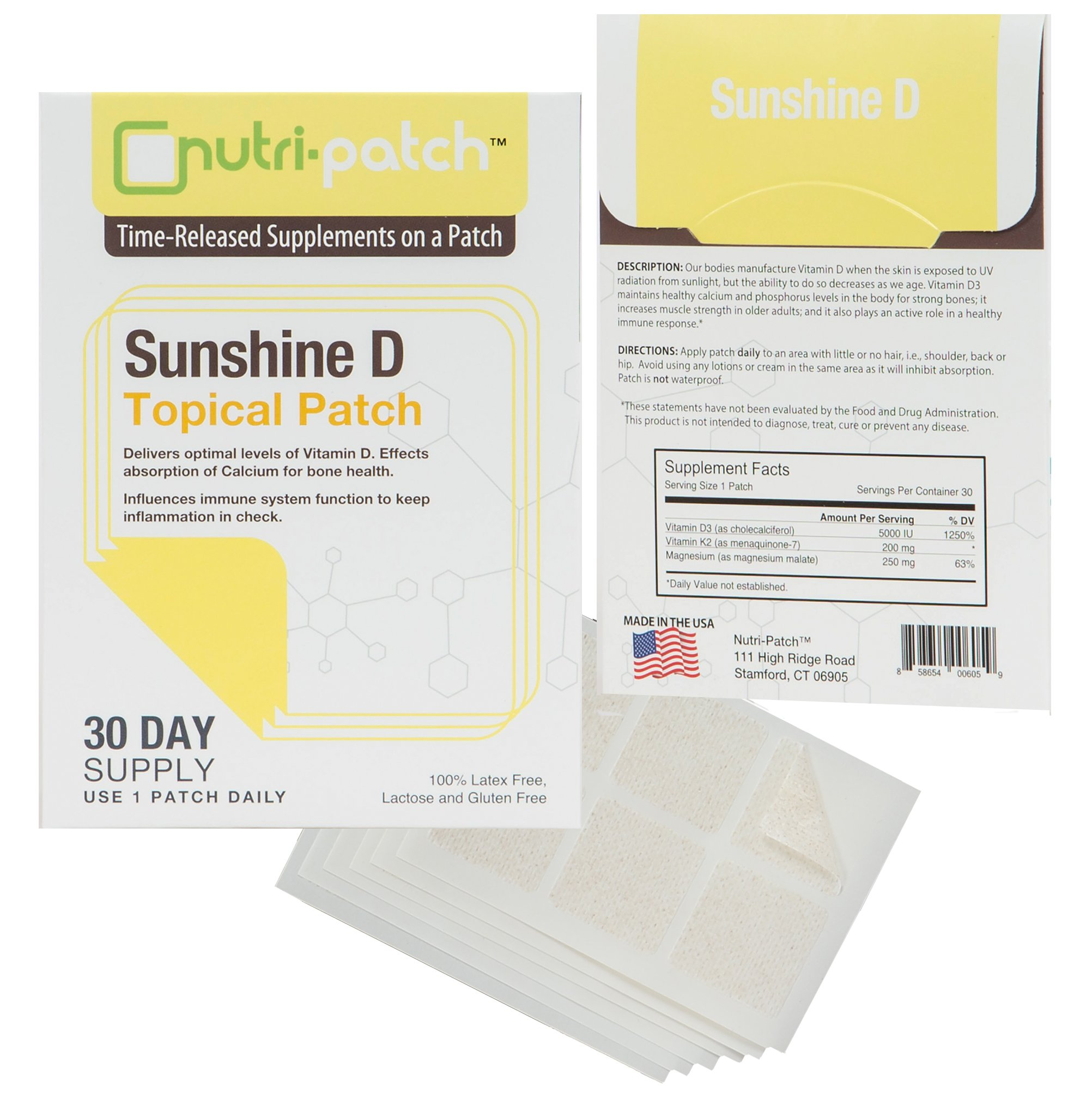 Sunshine D Topical Nutrient Skin Patch from NUTRI-PATCH®