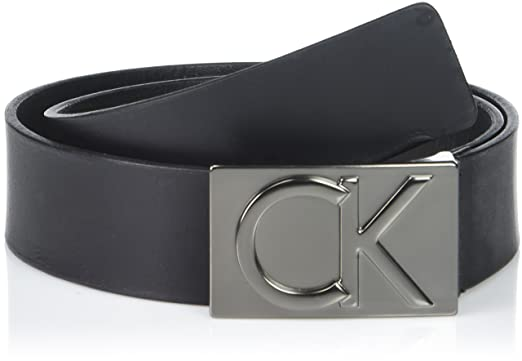 a0e93a67a1c Calvin Klein Men's 38mm Flat Strap Smooth, Matte Leather Belt at ...