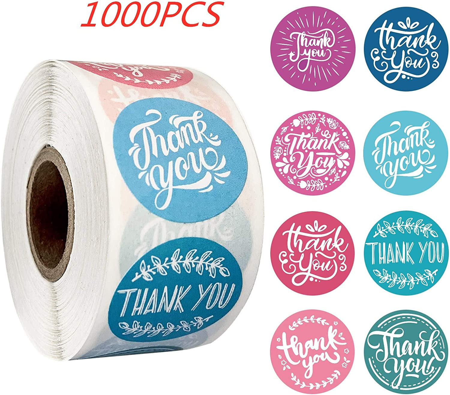 Round Thank You Stickers Wedding Favors Party Handmade Envelope Seal Stationery