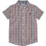 d7c902f10 J by Jasper Conran Kids Boys  Orange Gingham Collar Polo Top  J by ...