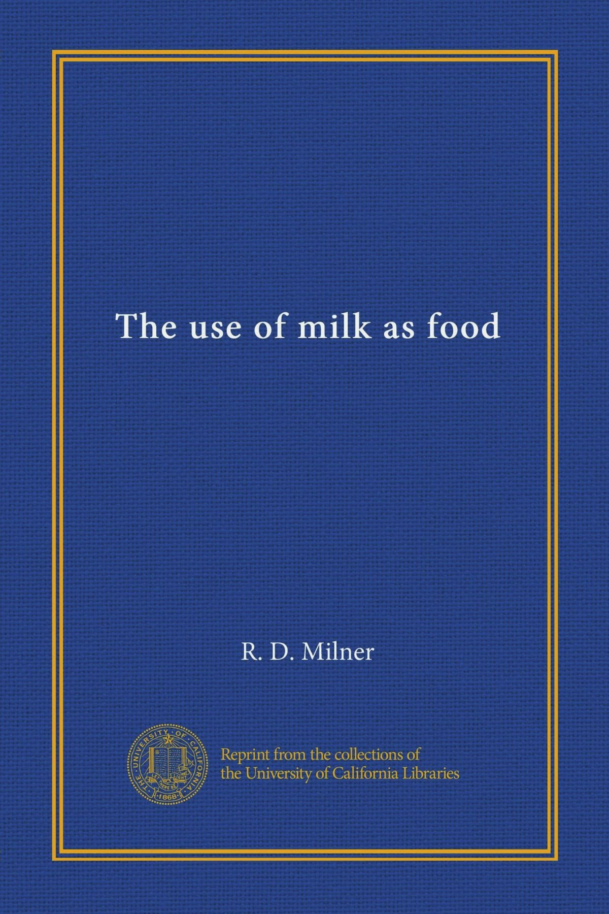 The use of milk as food pdf