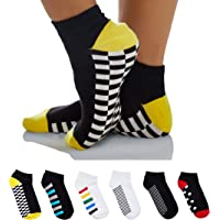 Sockyfy Socks for Men and Women Unisex Ankle Socks- Soles Collection Ankle Cotton Free Size - Pack of 6 - Assorted