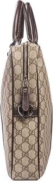 da27fe1f544 ... Gucci Flight bag Supreme GG Canvas Beige Ebony Brown Messenger Bag New  ...