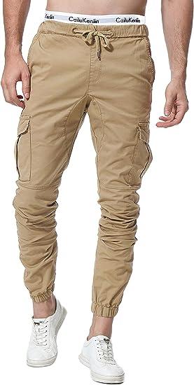 Zoerea Pantalones Hombre Casuales Deporte Elasticos Joggers Largos Pants Con Bolsillos Algodon Slim Fit Cargo Trouser De Hombres Amazon Es Ropa Y Accesorios