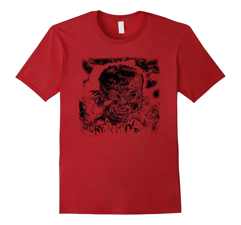 Werewolf T-Shirt Funny Vintage Halloween Shirt Print Tee Top-FL