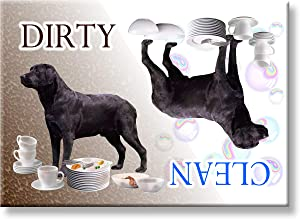 Labrador Retriever Dishwasher Magnet (Black)