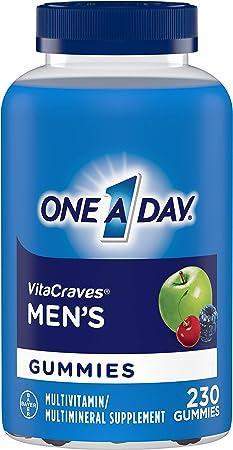 One A Day Men's Multivitamin Gummies, Supplement with Vitamin A, Vitamin C, Vitamin D, Vitmain E, Calcium & more, 230 count
