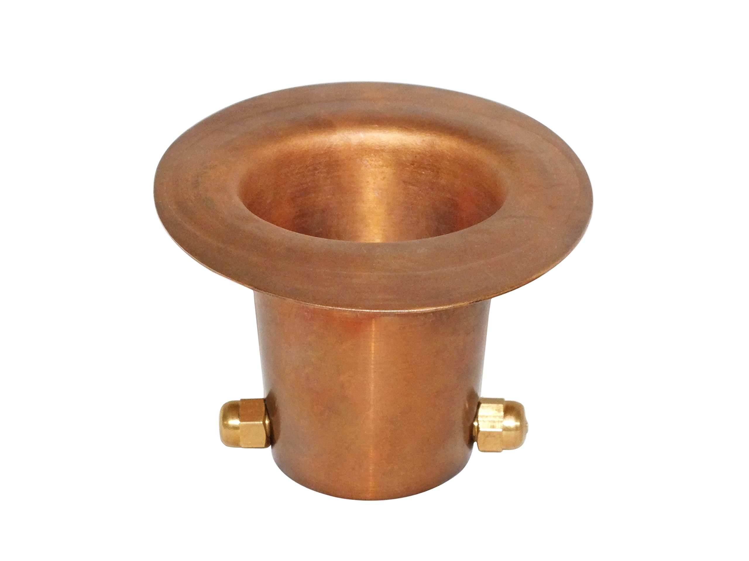 Monarch Rain Chains 25034 Gutter Adaptor Pure Copper