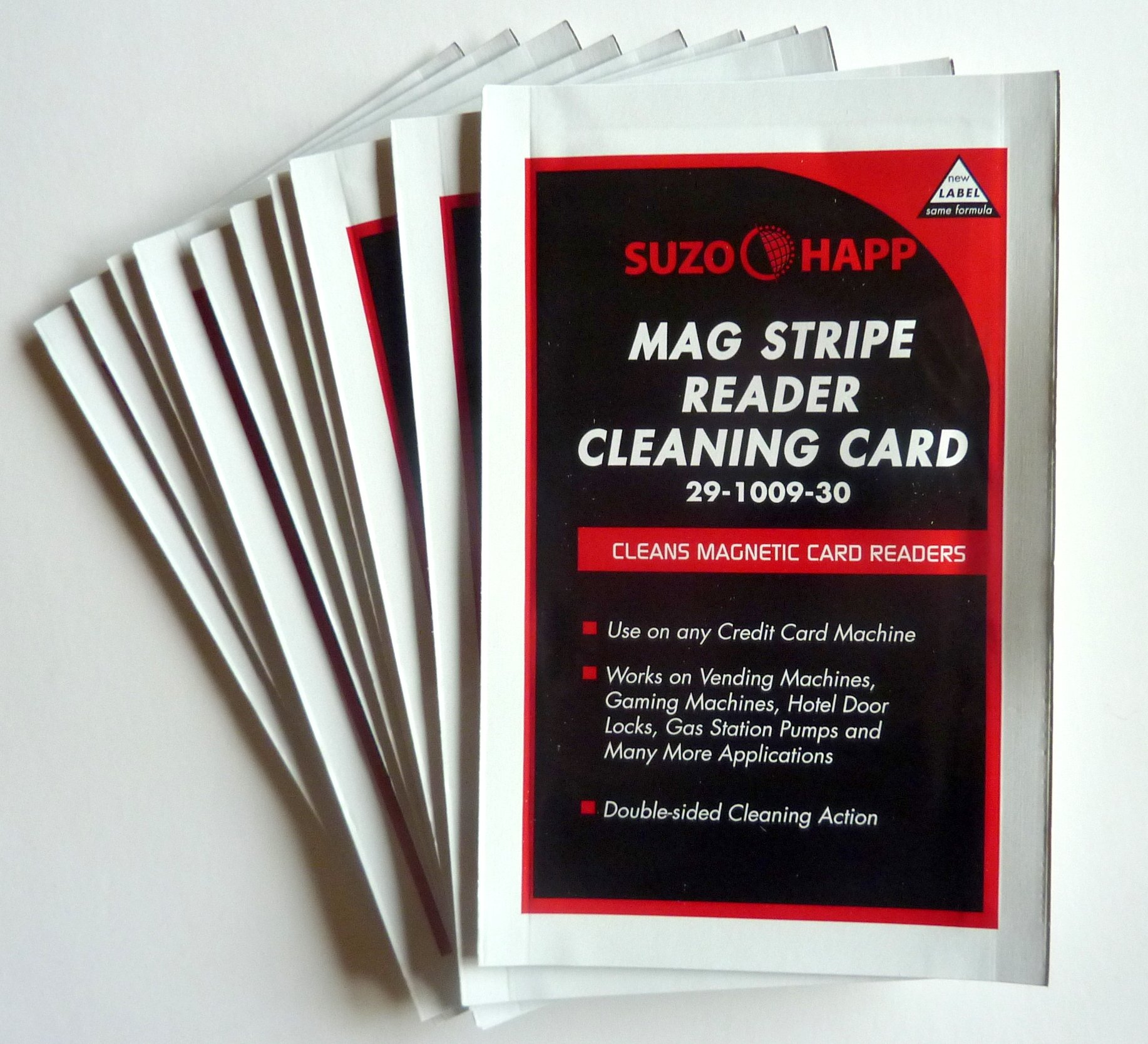 Cleaning Cards for Magnetic Stripe Credit Card Readers Lot/25 by Suzo Happ