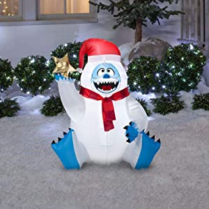 Gemmy Airblown Inflatable Bumble With Star; Use To Greet Guests and Neighbors; Lights up; Self-inflates in Seconds and Deflates for Easy Storage