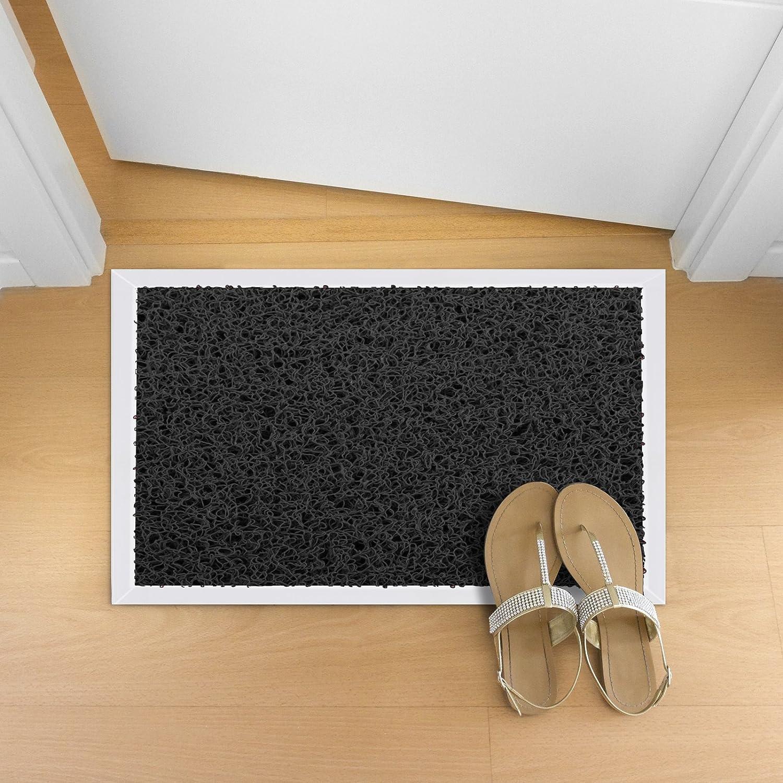 etm/® Fu/ßmatte Hygienic-Mat reinigt und desinfiziert Schuhsohlen Schwarz | 53x83cm bef/üllbare Desinfektionsmatte mit Alurahmen