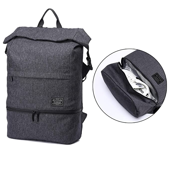 Backpack With Shoe Storage.Loiee Anti Theft Backpack Gym Sport Backpack With Shoe Storage Multi Function Canvas Travelling Bag Laptop