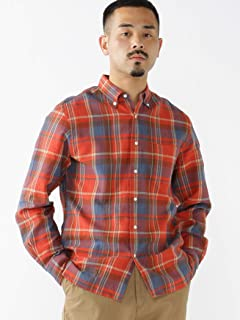 Plaid Gauze Buttondown Shirt 11-11-6301-563: Red