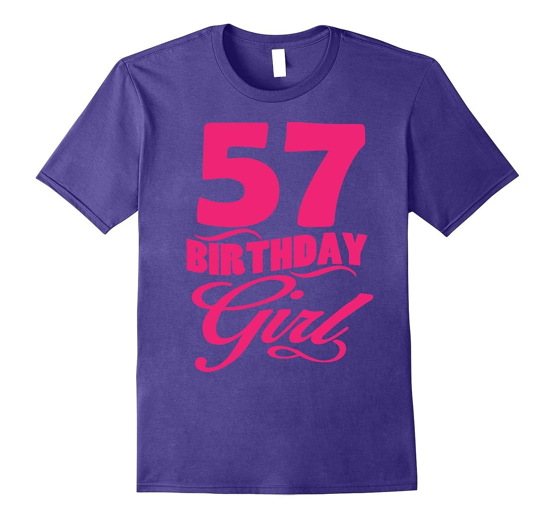 Womens 57th Birthday Girl 1960 Pink T-shirt-PL