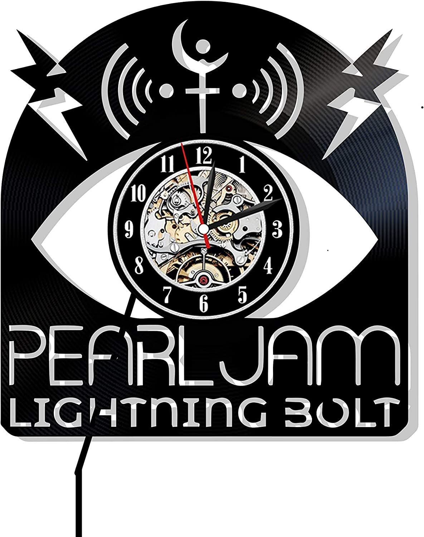 Bonoto Pearl Jam Wall Clock - Pearl Jam Vinyl Pearl Jam Design - Pearl Jam Rock Gift - Pearl Jam Decoration - Pearl Jam Band Eddie Vedder Clock Pearl Jam Gigaton Pearl Jam Rock Band Decor