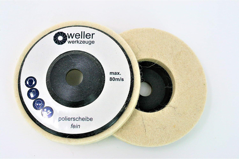 1x Polierscheibe Polierrad passend fü r Bosch GWS 10, 8 10 8 12V 12 76 Zubehö r Stahl Edelstahl Winkelschleifer WE-R