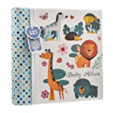 Baby Boy Blue Slip In Case Memo Photo Album 4 x 6'' For 200 Photos - Woodland Animals - Ideal Gift