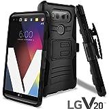 LG V20 Case, CellJoy [Ultra Rugged Hybrid] LG VS995 H990 Dual Layer ((Shockproof)) Impact Resistant Bumper Protection Cover {Kickstand} [Locking Swivel Belt Clip Holster Combo] (Black)