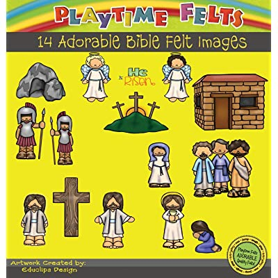 Playtime Felts He is Risen Bible Story Set for Flannel Board - Uncut: Toys & Games