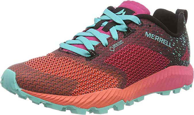 Merrell All out Crush 2 GTX, Zapatillas de Running para Asfalto para Mujer, Rojo (Azalea/Turquoise), 37 EU: Amazon.es: Zapatos y complementos