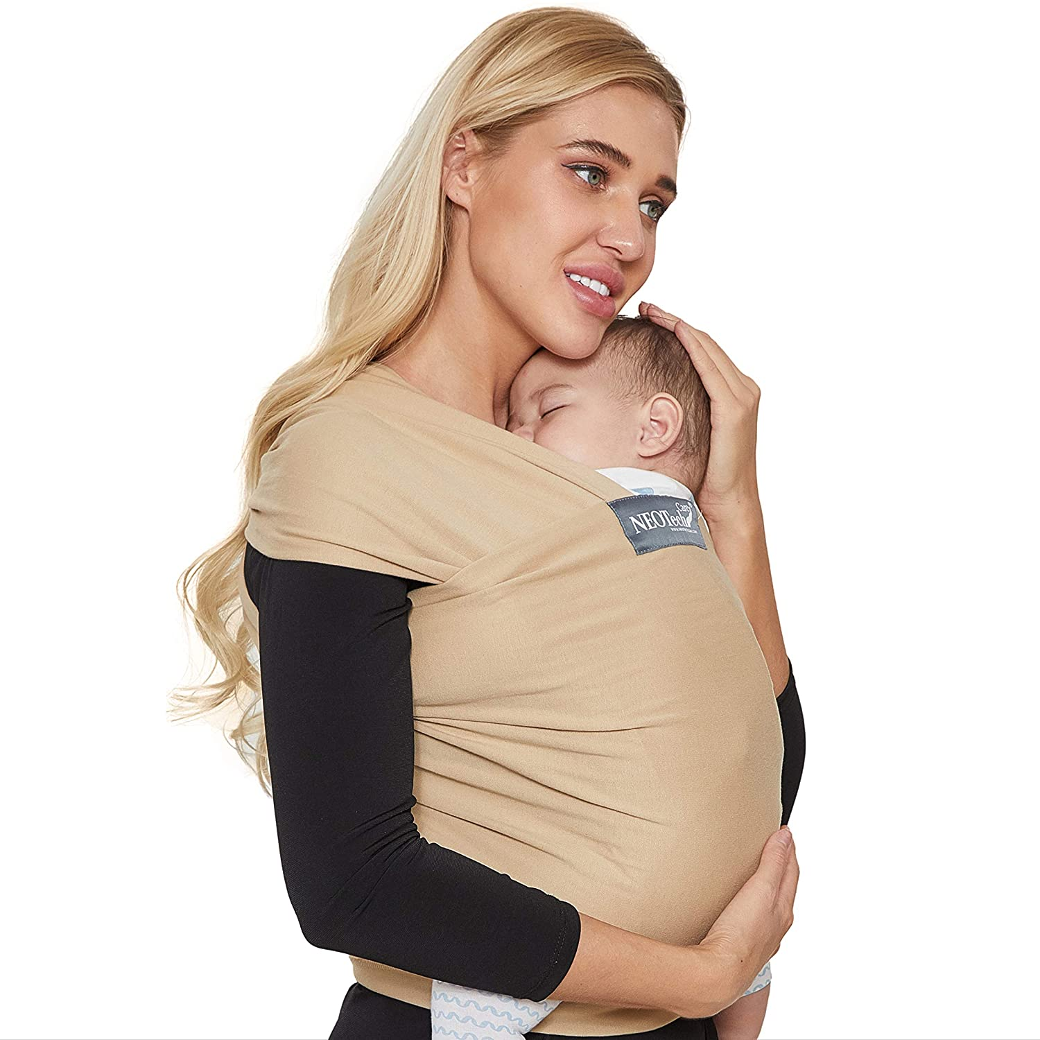 Toddler Child Neotech Care Baby Wrap Carrier Newborn for Infant Breathable /& Adjustable Cotton Grey