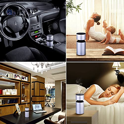 USB Rechargeable Essential Oil Nebulizer Diffuser for Home Office Vehicle Travel