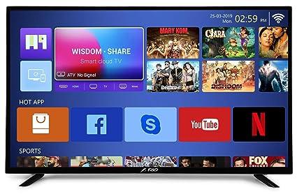 F&D 140 cm (55 inches) 4K UHD LED Smart TV T2V Range TLT-5508USHG (Black)