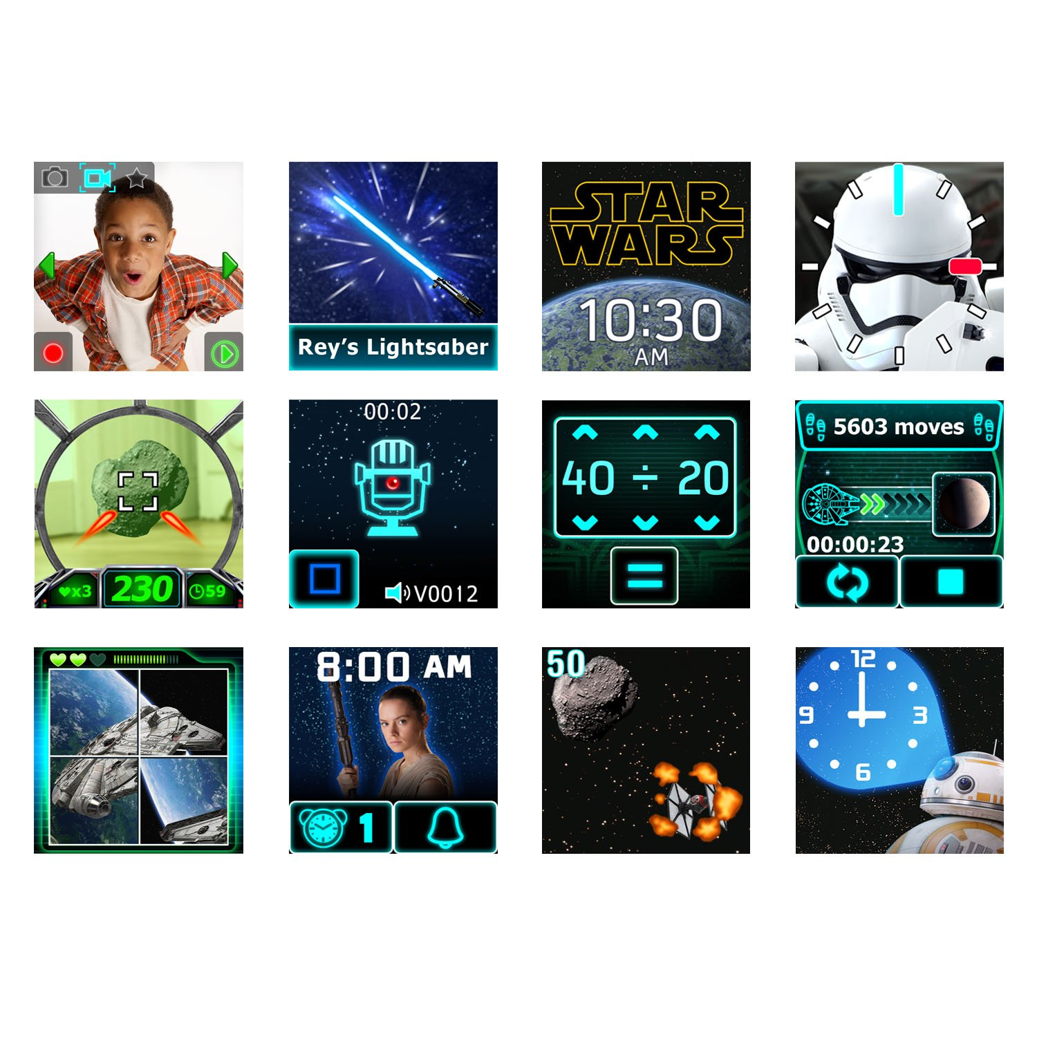 VTech Star Wars First Order Stormtrooper Smartwatch with Camera Amazon Exclusive, White by VTech (Image #8)