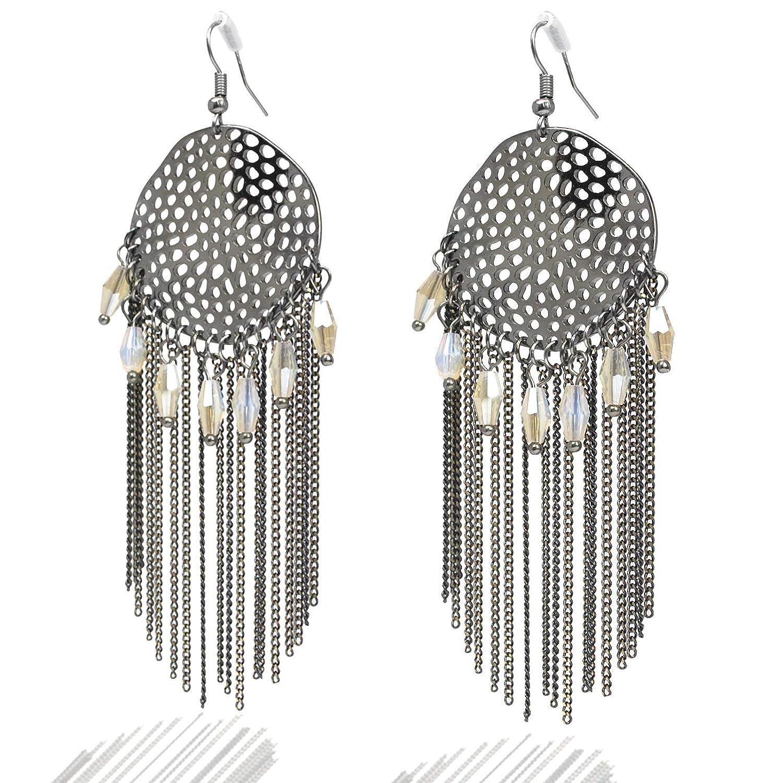 Drop Earrings Nice Fashion Jewelry Statement Tassel Flower Vintage Long Women Bohemian Earrings Ethinic Gold Big Dangle Drop Earrings For Women 100% Original
