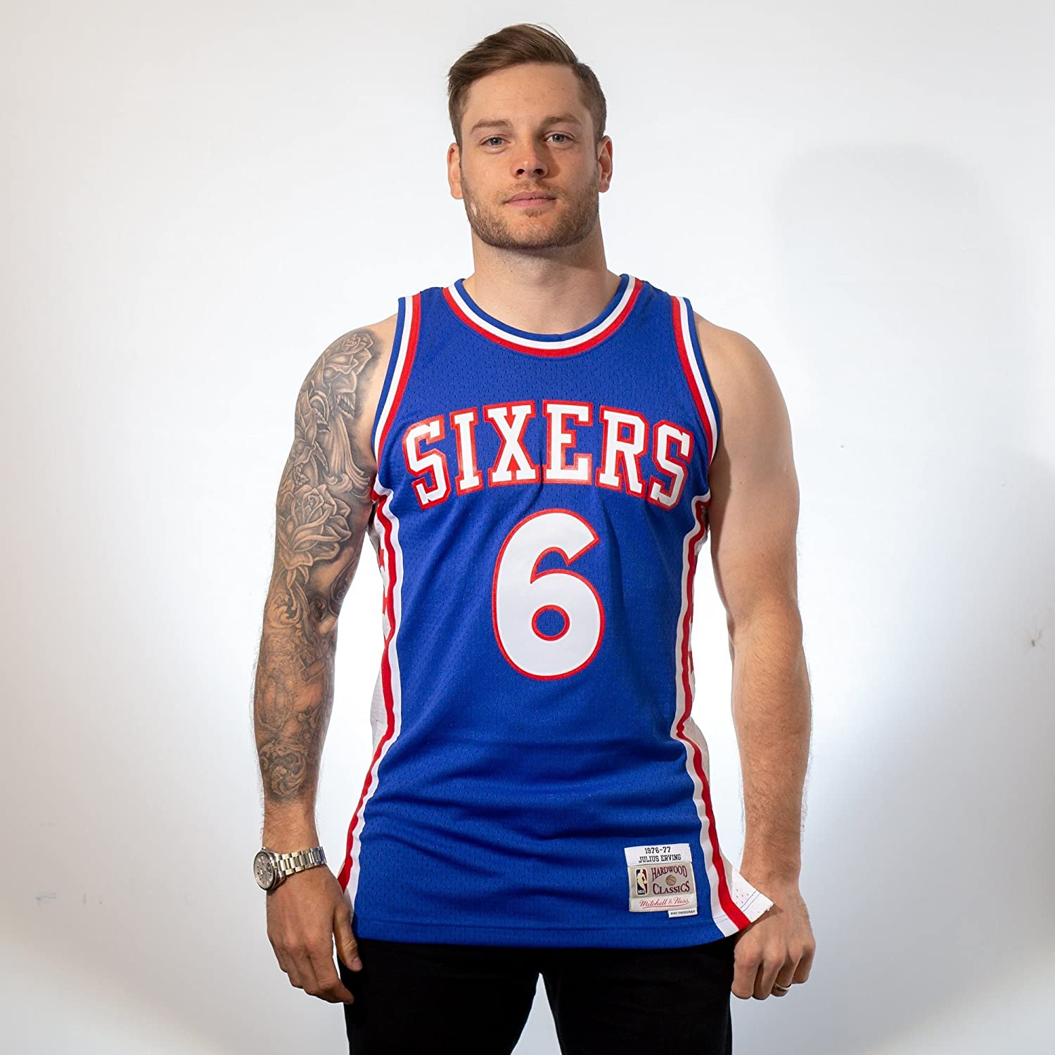 Mitchell & Ness CAMISETA NBA PHILADELPHIA 76ERS JULIUS ERVING 6 (AZUL): Amazon.es: Deportes y aire libre