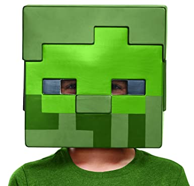 Amazon.com: Disfraz zombie Minecraft máscara de disfraz ...