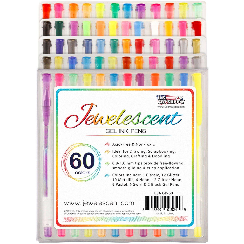 Free Ink Pens Amazoncom Us Art Supply Jewelescent Gel Ink Pens 60 Colors