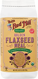 product image for Bob's Red Mill Golden Flaxseed Meal, Organic, Gluten Free, Whole Ground, 16 Ounce