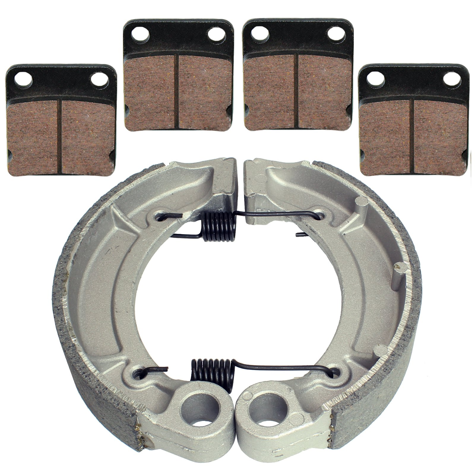 Caltric FRONT BRAKE PADS & REAR BRAKE SHOES Fits YAMAHA GRIZZLY 350 YFM350 4WD IRS HUNTER 2007-2012 NEW