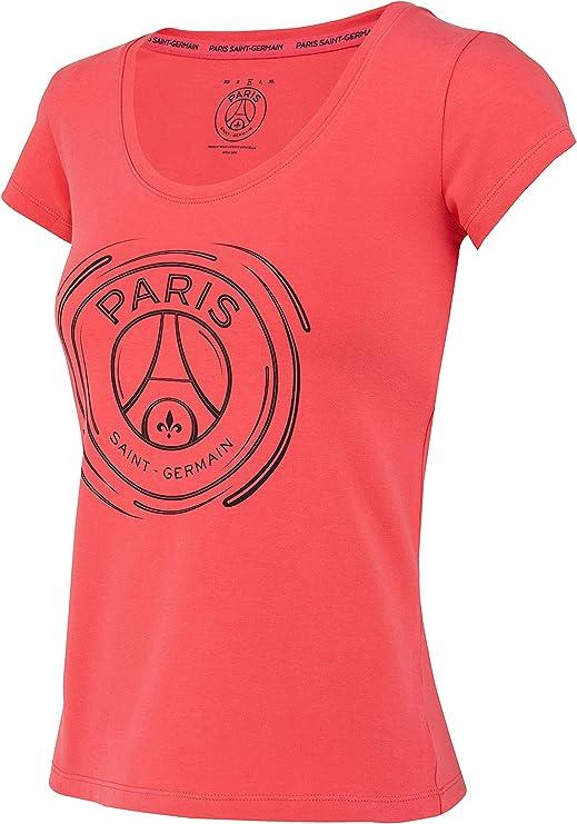 PARIS SAINT GERMAIN Camiseta de algodón PSG - Colección Oficial Talla Mujer M: Amazon.es: Deportes y aire libre