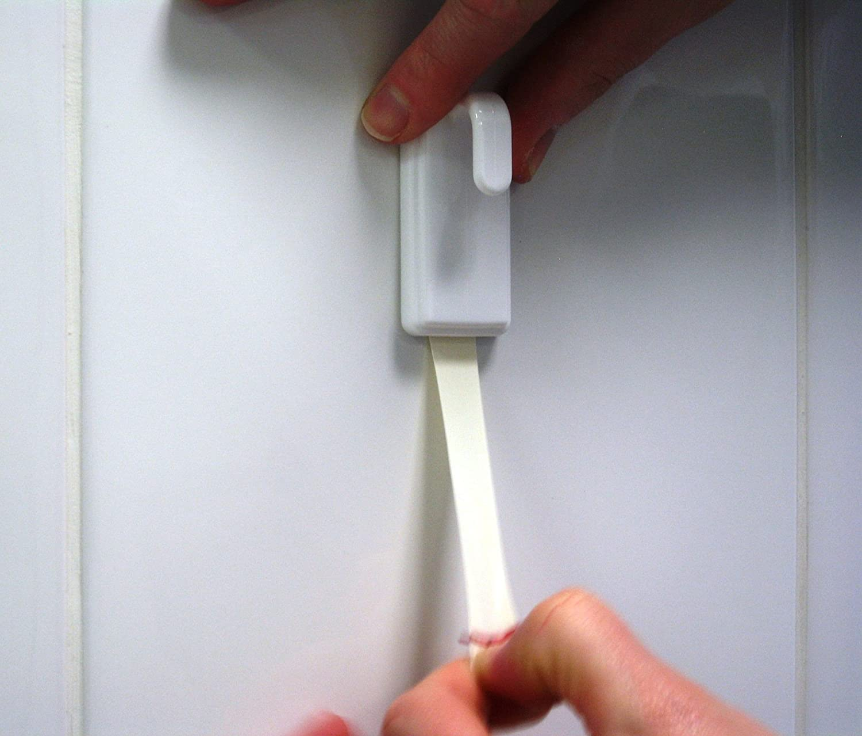 Soporta hasta 2 kg Azulejos Gancho Adhesivo Removible para Cristal Pl/ástico y Otras Superficies Madera tesa Powerstrips Ganchos Grandes Cl/ásicos Blanco